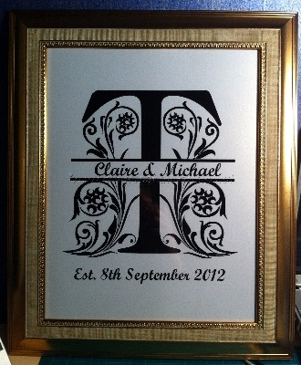 Personalised Split Letter Frame