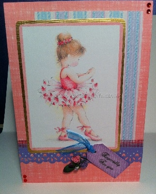 Handcrafted Birthday Card - Little Ballerina