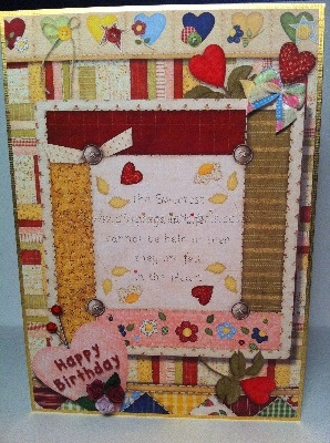 Handcrafted Birthday Card - Quilty