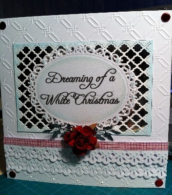 Handmade Christmas Card - Dreaming of a White Christmas