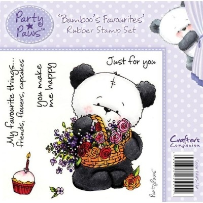 Crafter's Companion Party Paws Range Stamp Set - Bamboo Favourites
