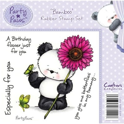 Crafter's Companion Party Paws Range Stamp Set - Bamboo