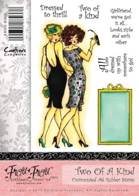 Crafter's Companion Frou Frou Stamp Set - Two of A Kind