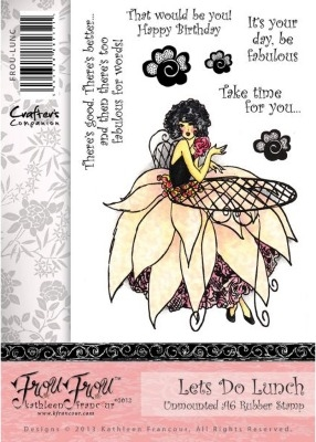Crafter's Companion Frou Frou Range Stamp Set - Let's Do Lunch
