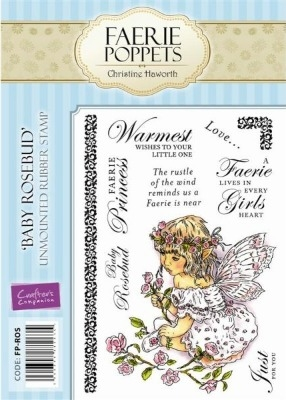 Crafter's Companion Faerie Poppets Stamp Set - Baby Rosebud