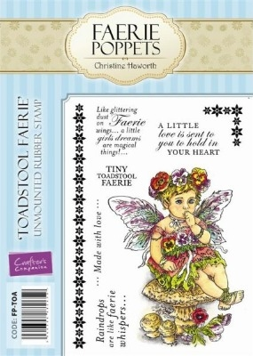 Crafter's Companion Faerie Poppets Stamp Set - Toadstool Faerie