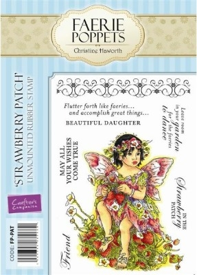 Crafter's Companion Faerie Poppets Stamp Set - Strawberry Patch