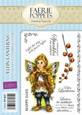 Crafter's Companion Faerie Poppets Stamp Set - Elfin Lanterns