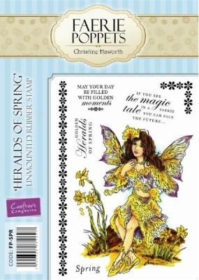 Crafter's Companion Faerie Poppets Stamp Set - Heralds of Spring