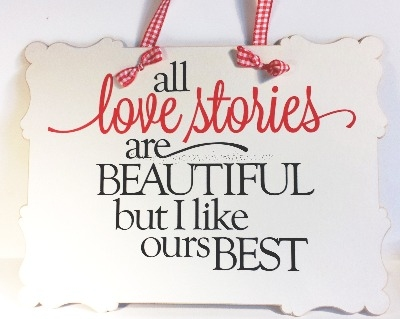 Wall Plaque - Our Love Story