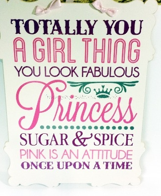 Wall Plaque - Totally Princess