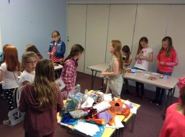 Children making craft