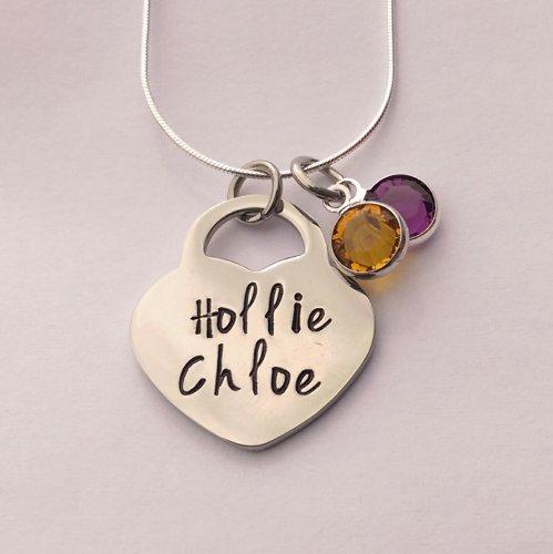 Padlock / lock heart pendant (large)