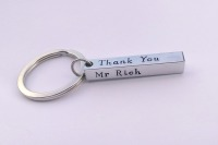 Teacher thank you keyring (bar)
