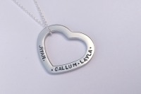 Premium heart washer necklace