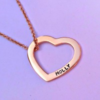 Premium Rose Gold heart washer necklace