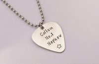 Personalised guitar pick pendant