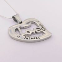 Personalised LOVE heart pendant