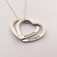 Personalised Linked hearts necklace