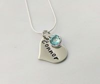 Personalised dainty heart necklace