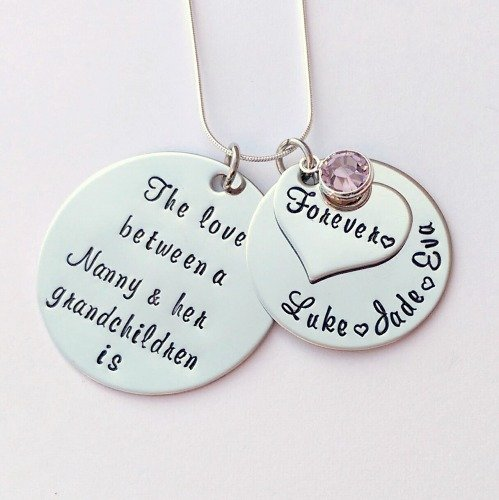 Personalise d The Love between a Nanny and her Grandchildren is forever nec