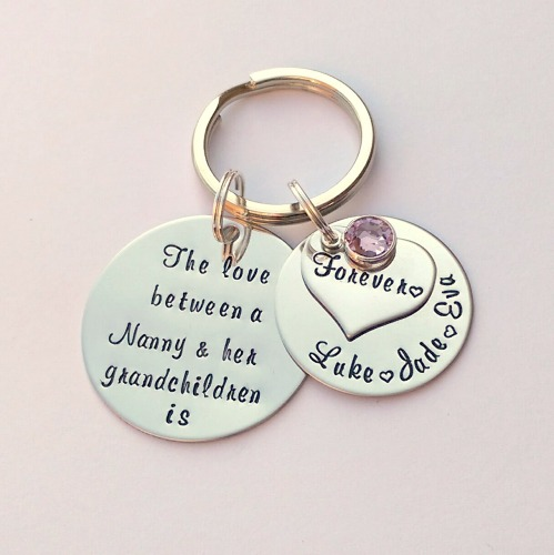 Personalise d The Love between a Nanny and her Grandchildren is forever key