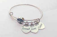 Personalised family tree bracelet