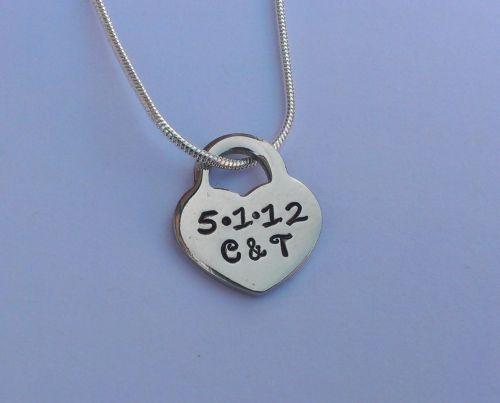 'Tiffany' style heart pendant