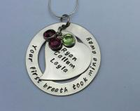 Your first breath took mine away necklace (large)