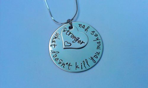 What doesn't kill you makes you stronger necklace