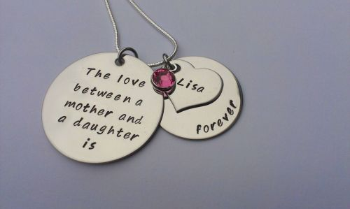 The Love Between a Mother and a Daughter necklace