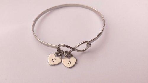 Stainless steel infinity bracelet