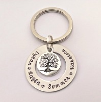 Personalised family tree keyring (Medium)