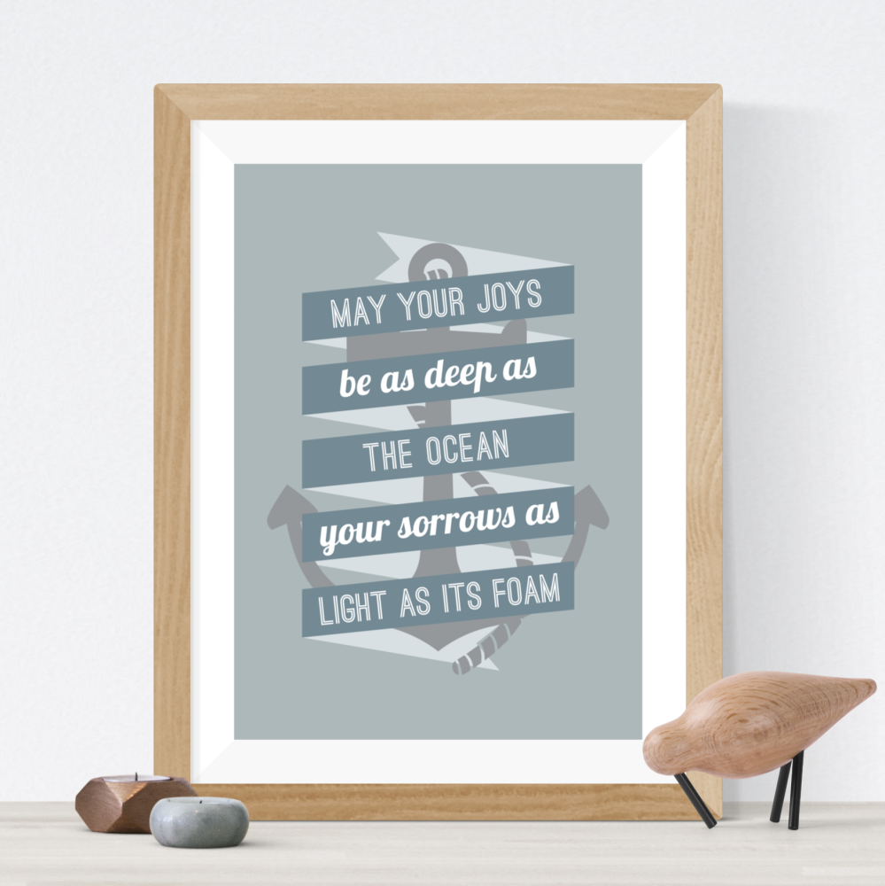 Nautical Quote Print