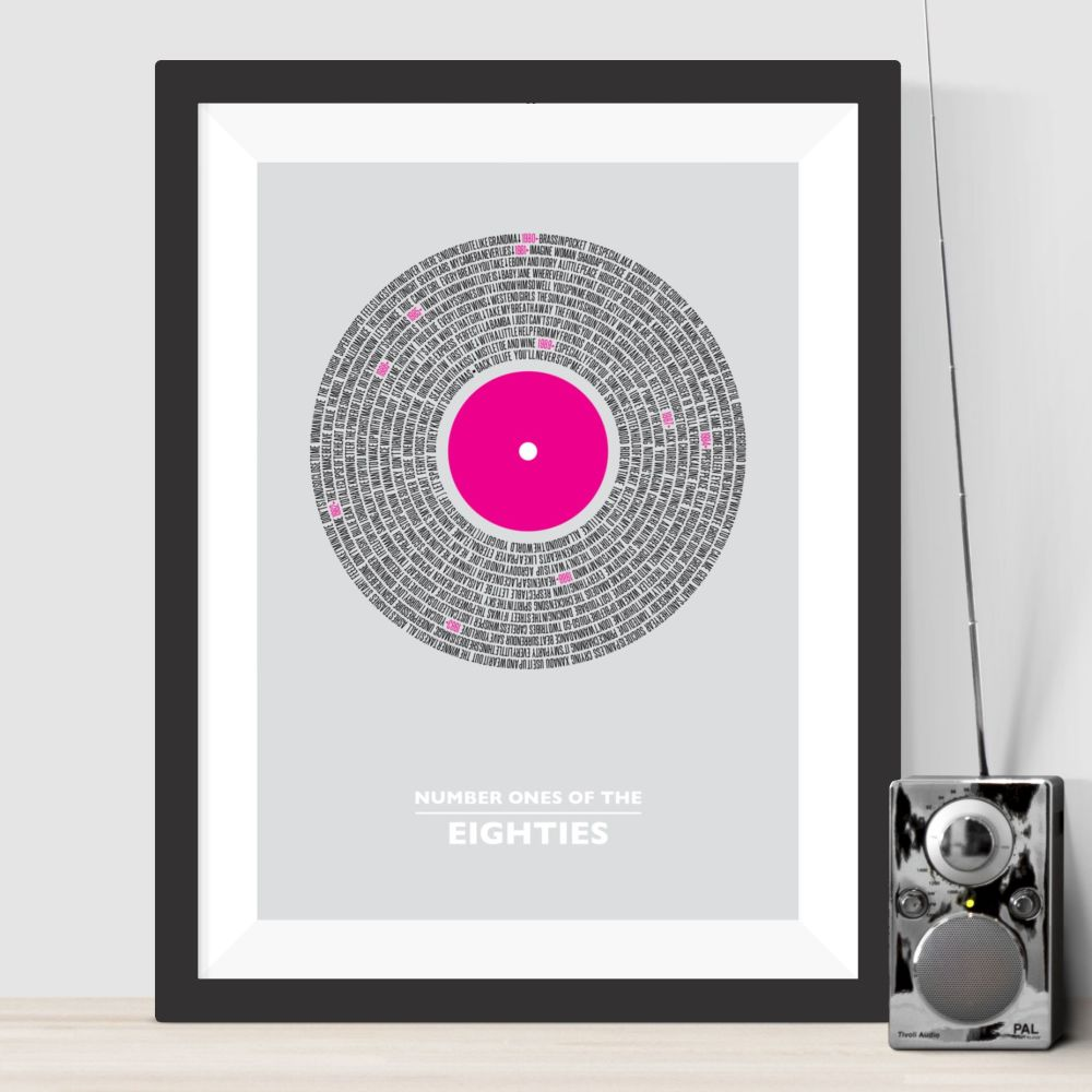 Eighties Number Ones Print