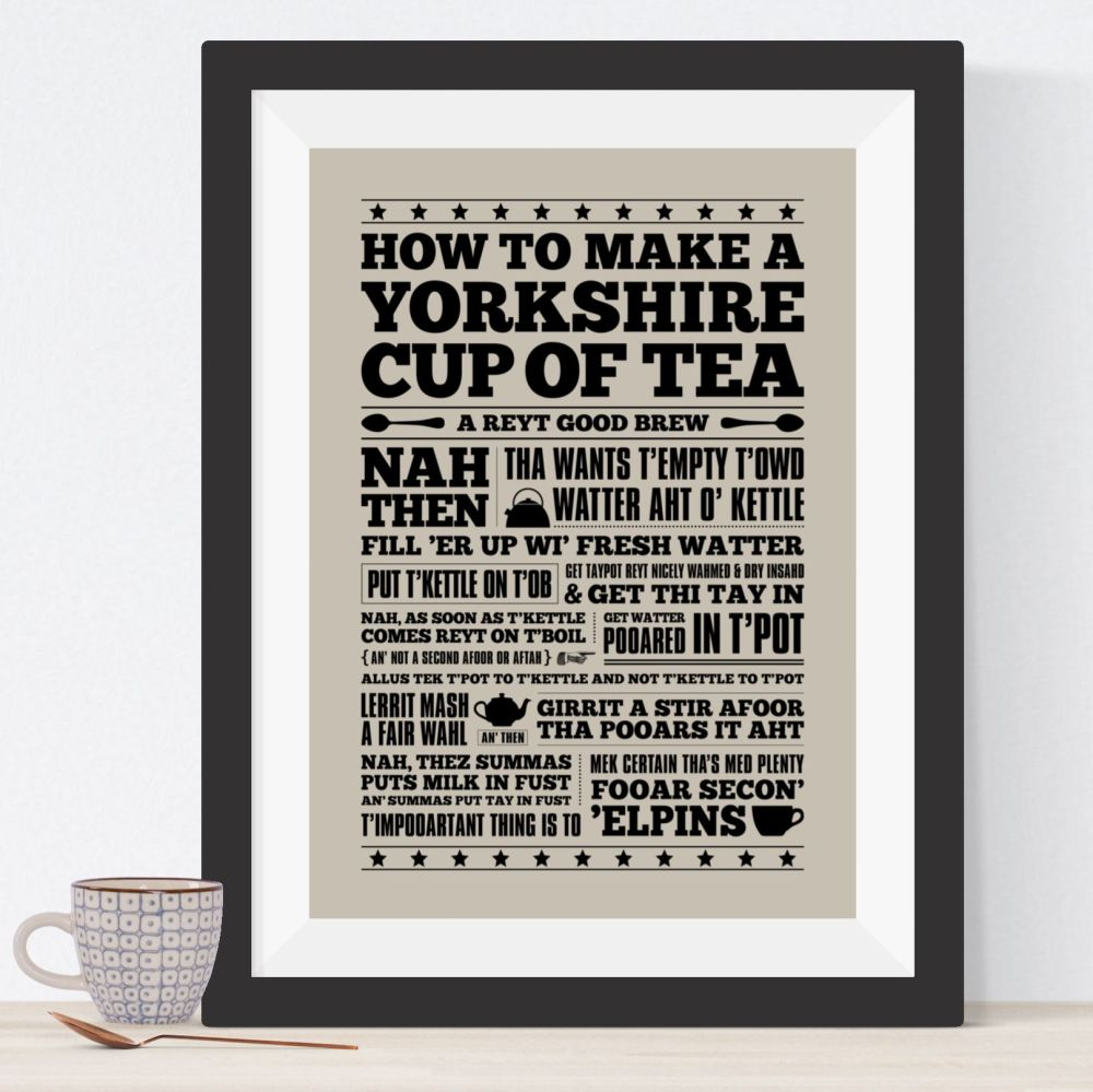 Yorkshire Cup Of Tea Print