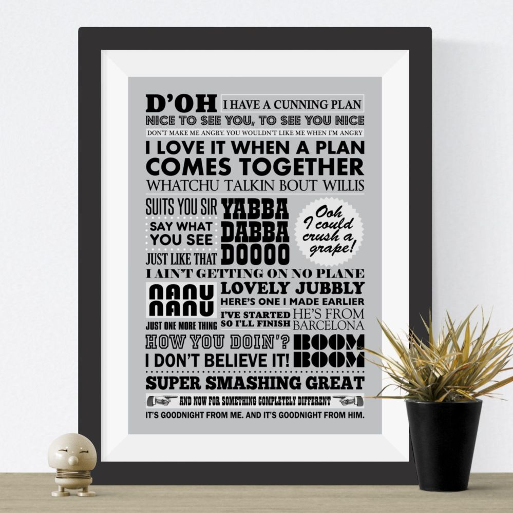 TV Catchphrases Print