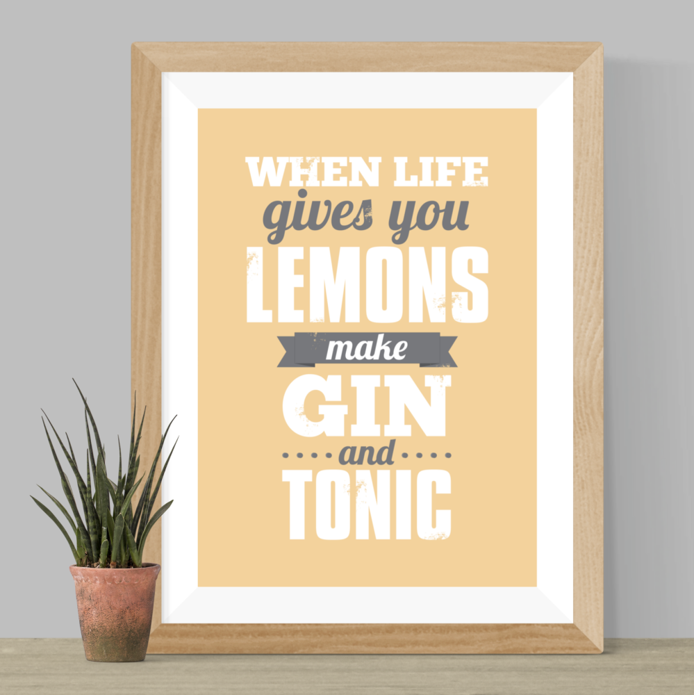 Make Gin and Tonic Print