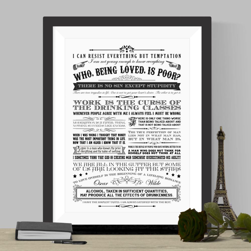 Oscar Wilde Quotes Print