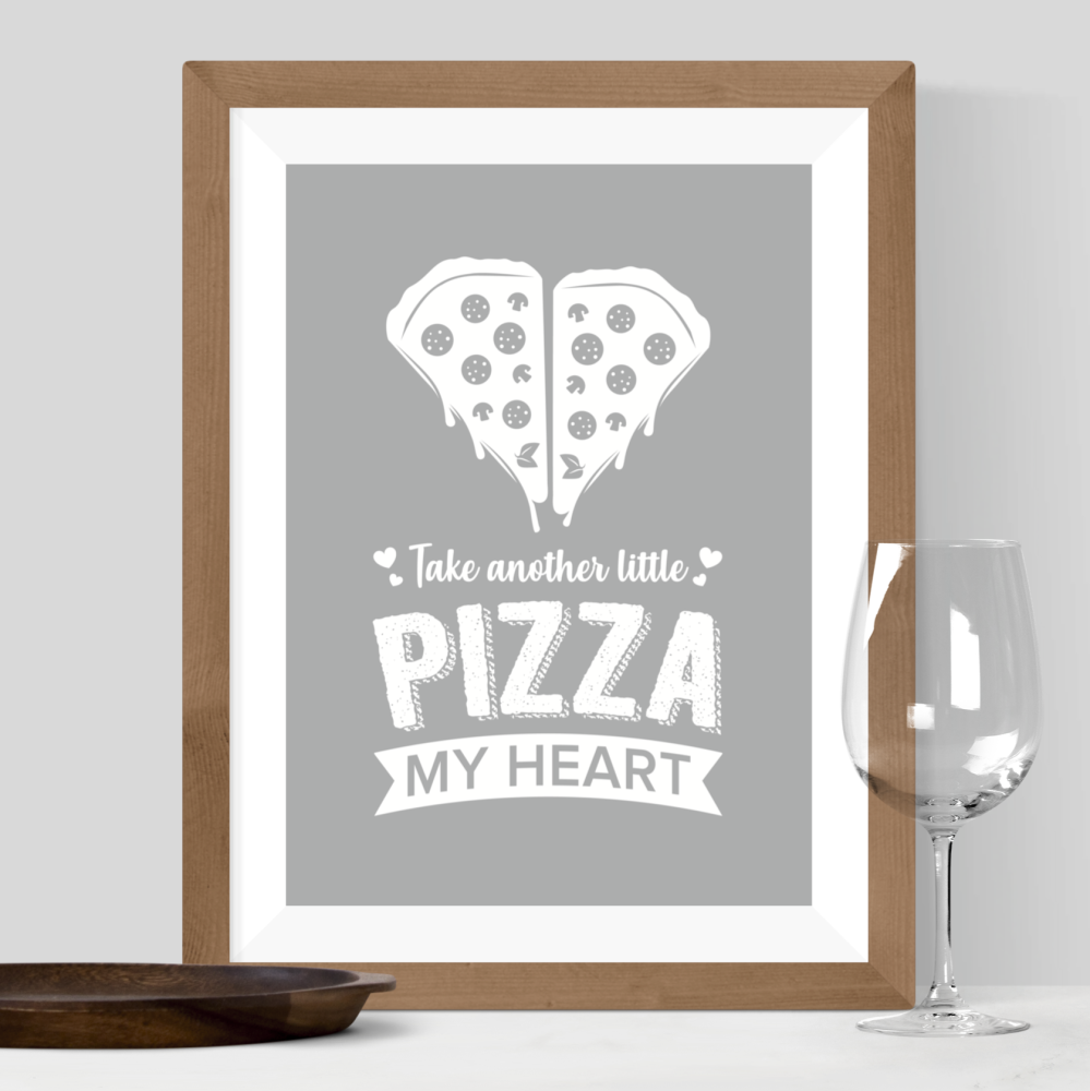Pizza My Heart Print