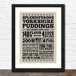 Yorkshire Pudding Print in Black Frame