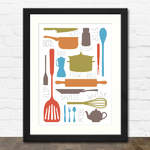 Cooking Collection Print in Black Frame