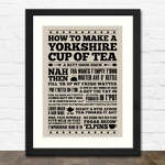 Yorkshire Cup of Tea Print in Black Frame