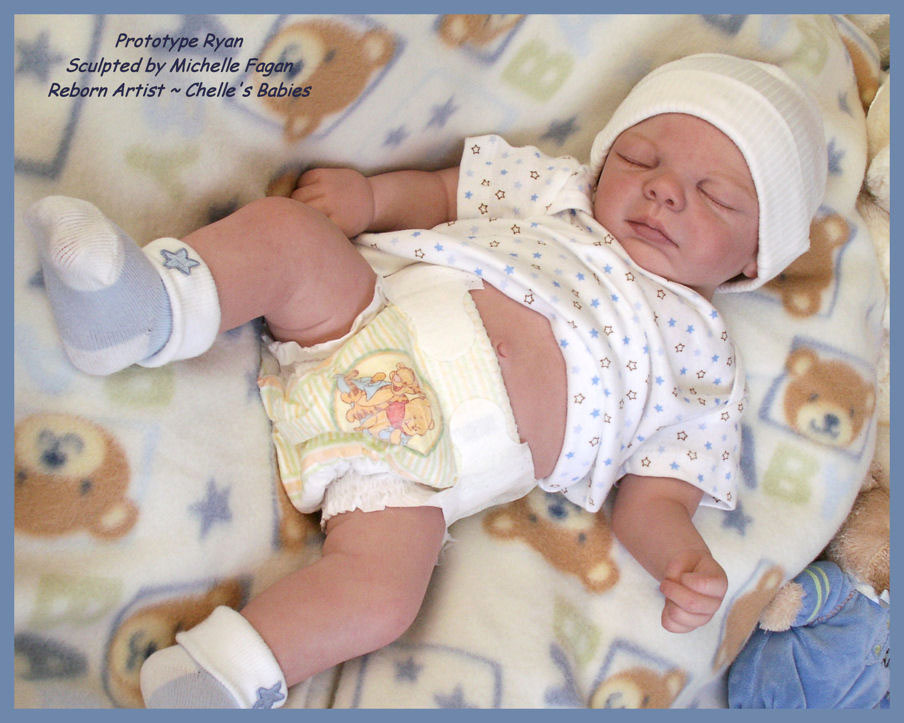 Sleeping - Ryan Kit by Michelle Fagan - *COMPLETE REBORN STARTER SET!!* Mak