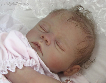 """Sleeping - Meg Kit by Marissa May - *COMPLETE REBORN STARTER SET!!* Makes 20"""" BABY With faux doe suede, disc jointed body."""