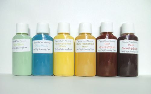 Special Care Nursery Air dry paints -  1 set of 6 washes - colours as begin
