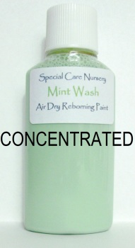 Special Care Nursery Air dry paints - *  The Washes* No.1 - 30ml MINT WASH *CONCENTRATED*. For Use With The Special Care Nursery Air Dry Reborning Pai