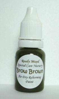 Special Care Nursery Air dry paints - * The Detailing paints (hair & brows)* - 10ml Brow Brown. For Use With The Special Care Nursery Air Dry Rebor