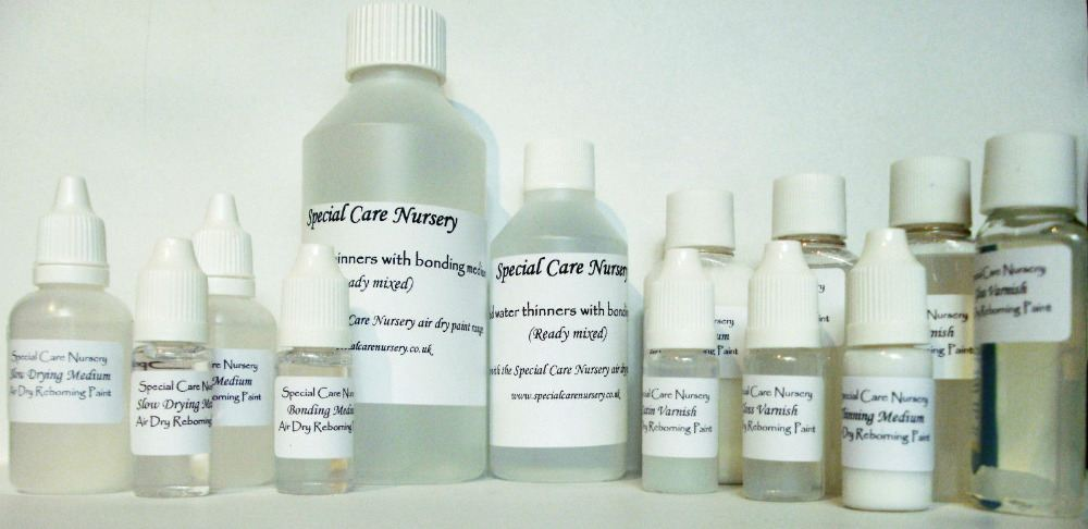 Special Care Nursery Mediums, thinners and varnish
