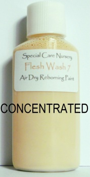 Special Care Nursery Air dry paints - *  The Washes* - 30ml FLESH WASH 7. *CONCENTRATED* Requires dilution with our thinners.